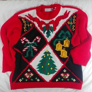 👉🎄Vintage Christmas Sweater Size 1X